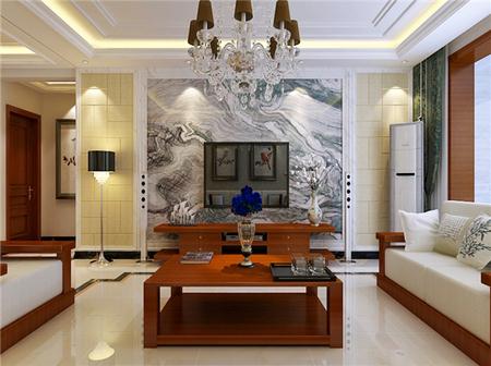 奥北公元168㎡新中式风格三室两厅装修效果图